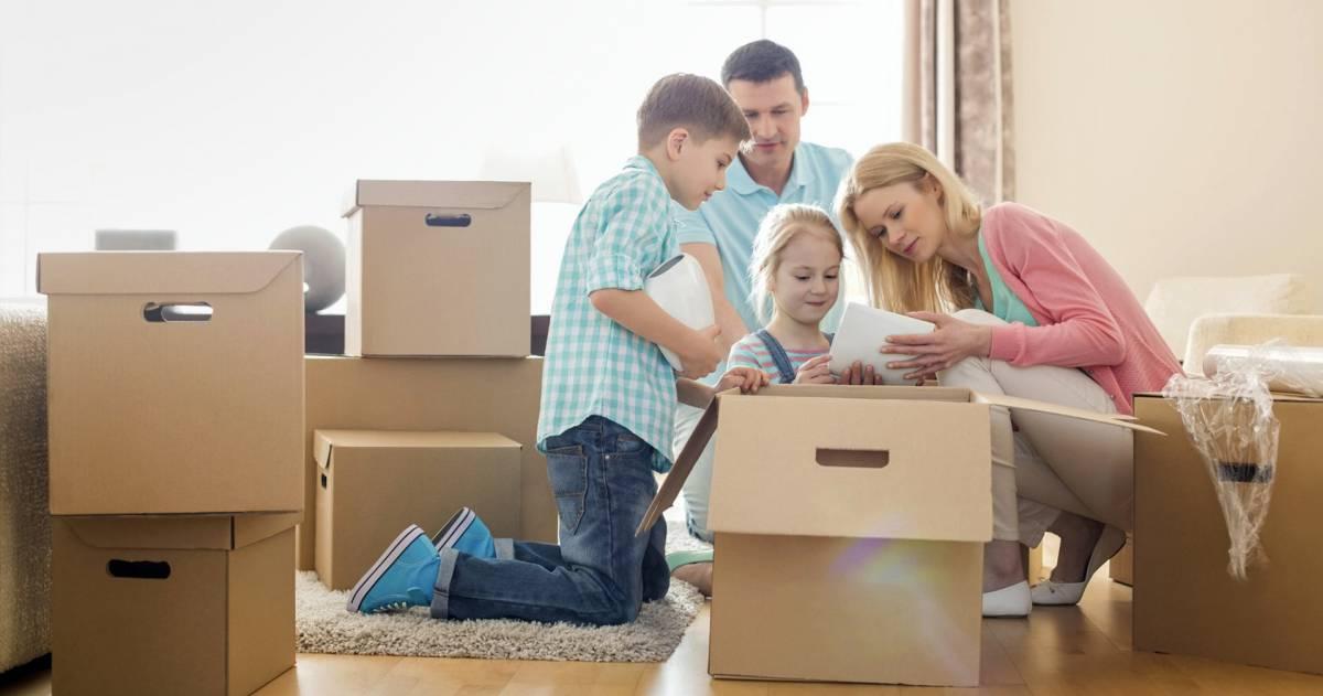 Gezin verhuist naar andere woning